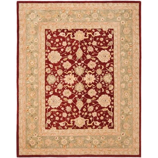 Safavieh Handmade Anatolia Oriental Red/ Green Hand-spun Wool Rug (9'6 x 13'6)