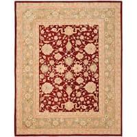 Safavieh Handmade Anatolia Oriental Red/ Green Hand-spun Wool Rug (9'6 x 13'6) - 9'6 x 13'6