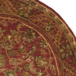 Safavieh Handmade Heirloom Red Wool Rug (7'6 x 9'6 Oval)