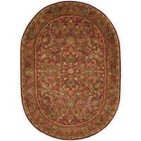 "Safavieh Handmade Heirloom Red Wool Rug - 7'6"" x 9'6"" oval"