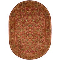 "Safavieh Handmade Heirloom Red Wool Rug - 7'-6"" x 9'-6"" oval"
