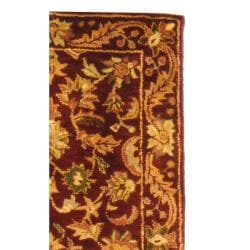 Safavieh Handmade Exquisite Wine/ Gold Wool Runner (2'3 x 16') - Thumbnail 1