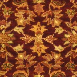 Safavieh Handmade Exquisite Wine/ Gold Wool Runner (2'3 x 16') - Thumbnail 2