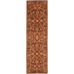 Safavieh Handmade Heirloom Red Wool Runner (2'3 x 10')