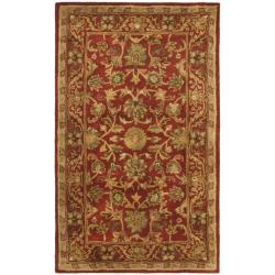 Safavieh Handmade Heirloom Red Wool Runner (2'3 x 4')