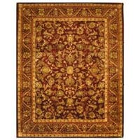Safavieh Handmade Exquisite Wine/ Gold Wool Rug - 12' x 15'