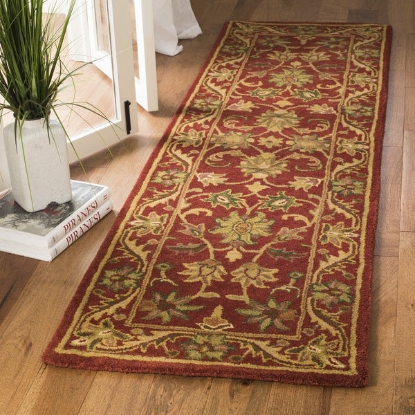 Safavieh Handmade Heirloom Red Wool Runner (2'3 x 12')