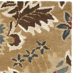 Safavieh Handmade Blossom Floral Beige Wool Rug (2'3 x 8') - Thumbnail 1
