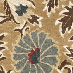 Safavieh Handmade Blossom Floral Beige Wool Rug (2'3 x 8') - Thumbnail 2