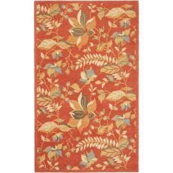 Safavieh Handmade Blossom Botanical Rust Wool Rug (8'9 x 12')
