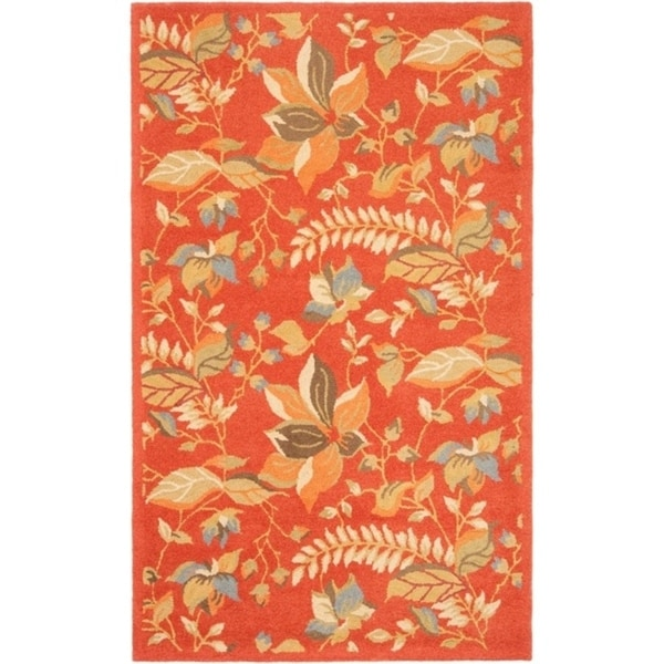 "Safavieh Handmade Blossom Botanical Rust Wool Rug - 8'9"" x 12'"