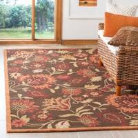 "Safavieh Handmade Blossom Gardens Brown Wool Rug - 8'9"" x 12'"