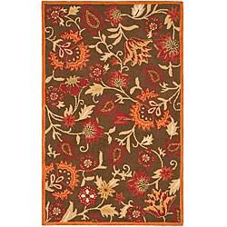 Safavieh Handmade Blossom Gardens Brown Wool Rug - 6' x 9' - Thumbnail 0