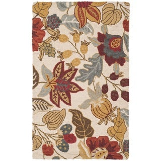 Safavieh Handmade Blossom Ivory Wool Rug (3' x 5')
