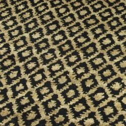 Safavieh Hand-knotted Vegetable Dye Black/ Gold Rug (9' x 12') - Thumbnail 2