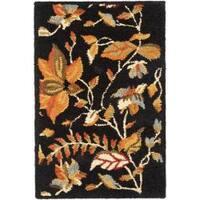 Safavieh Handmade Blossom Botanical Black Wool Rug - 2'6' x 4'