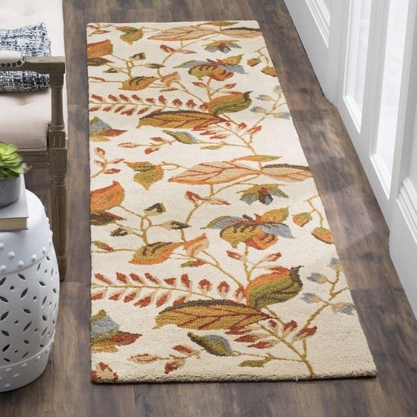Safavieh Handmade Blossom Paradise Beige Wool Rug (2'3 x 8')