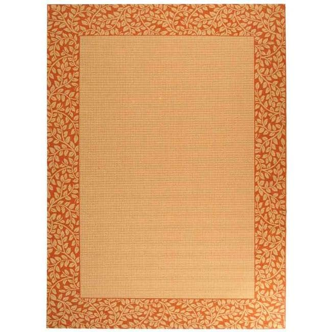 Safavieh Courtyard Natural/ Terracotta Indoor/ Outdoor Rug (9'2 x 11'7)