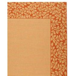 Safavieh Courtyard Natural/ Terracotta Indoor/ Outdoor Rug (9'2 x 11'7) - Thumbnail 2