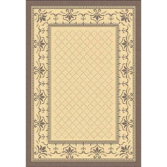 Safavieh Royal Natural/ Brown Indoor/ Outdoor Rug (9' x 12')