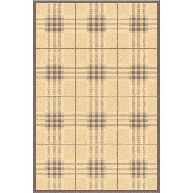 "Safavieh Contemporary Indoor/Outdoor Natural/Brown Rug (5'3"" x 7'7"")"