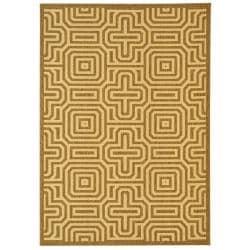 Safavieh Matrix Brown/ Natural Indoor/ Outdoor Rug (6'7 x 9'6)