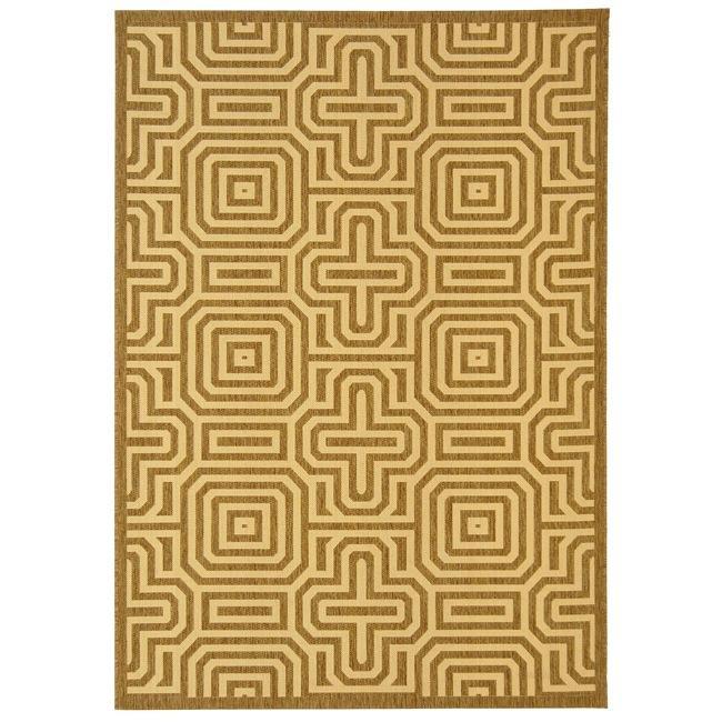 Safavieh Matrix Brown/ Natural Indoor/ Outdoor Rug (8' x 11'2)