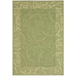 Safavieh Indoor/ Outdoor Oasis Olive/ Natural Rug (9' x 12')