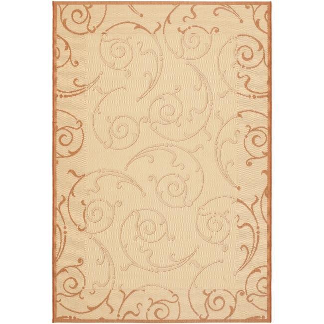 Safavieh Oasis Scrollwork Natural/ Terracotta Indoor/ Outdoor Rug - 9' x 12'