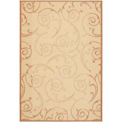 Safavieh Oasis Scrollwork Natural/ Terracotta Indoor/ Outdoor Rug (9' x 12')