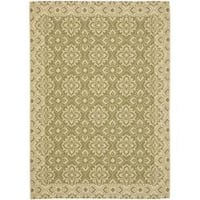 "Safavieh Courtyard Elegance Green/ Cream Indoor/ Outdoor Rug (2'7"" x 5')"