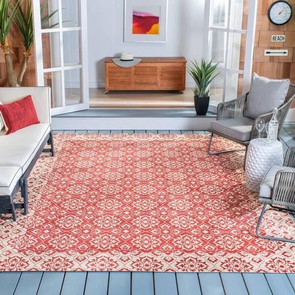 Safavieh Indoor Outdoor Rugs.Shop Safavieh Courtyard Ardeth Indoor Outdoor Rug On Sale