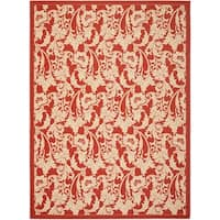 Safavieh Courtyard Red/ Cream Indoor/ Outdoor Rug - 8' X 11'