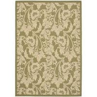 Safavieh Courtyard Green/ Cream Indoor/ Outdoor Rug - 8' x 11'2