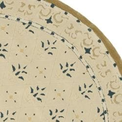 Safavieh Hand-hooked Easy Care Morocco Ivory/ Blue Rug (8' Round)