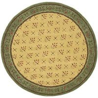 Safavieh Hand-hooked Easy Care Morocco Beige/ Red Rug - 8' x 8' Round