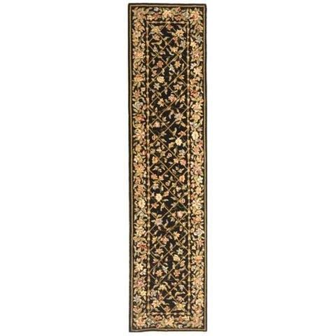 Safavieh Handmade French Tapis Maya Shabby Chic Oriental Trellis Wool Rug