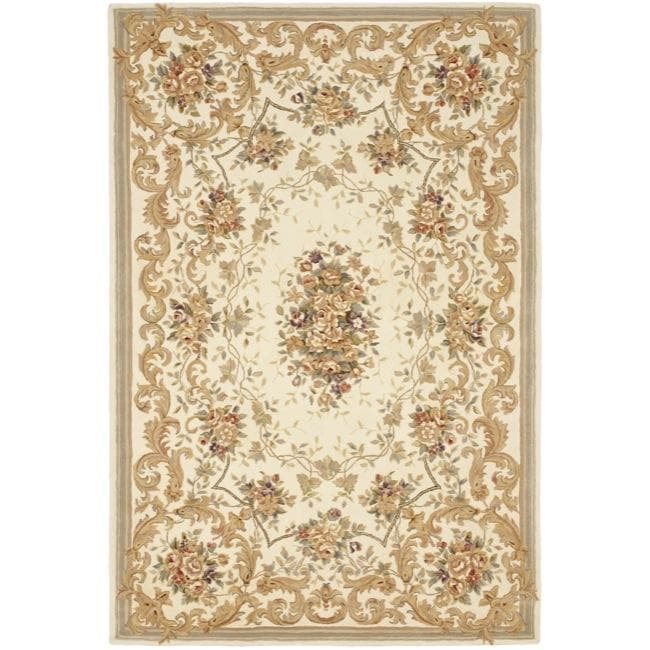 Safavieh Handmade Paradise Bouquet Ivory Wool and Silk Rug (6' x 9')