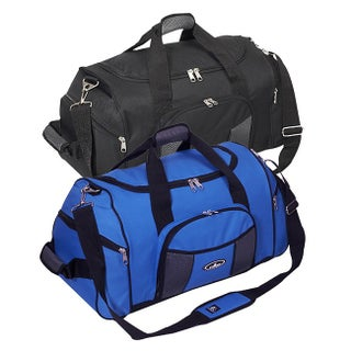 Everest 24-inch Deluxe Sports Duffel Bag (Option: Royal Blue / Gray)
