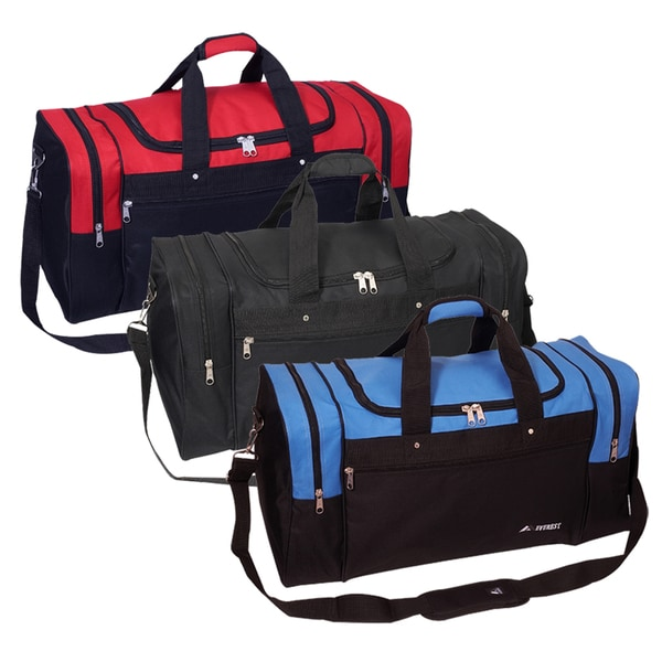 Shop Everest 26 Inch Signature Sports Polyester Duffel Bag With Strap Overstock 6030508