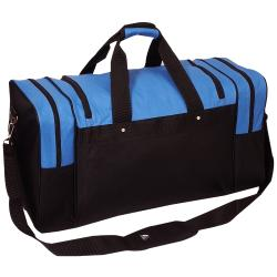 Everest 26-inch Signature Sports Polyester Duffel Bag with Strap (Option: Royal Blue / Black)