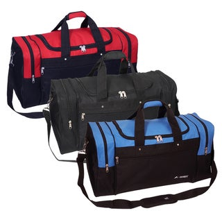 Everest 26-inch Signature Sports Polyester Duffel Bag with Strap (Option: Red)