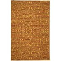 "Safavieh Handmade Irongate Scrolls Wool and Silk Rug - 8'-6"" X 11'-6"""