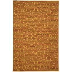 Safavieh Handmade Irongate Scrolls Wool and Silk Rug - 8' x 11'