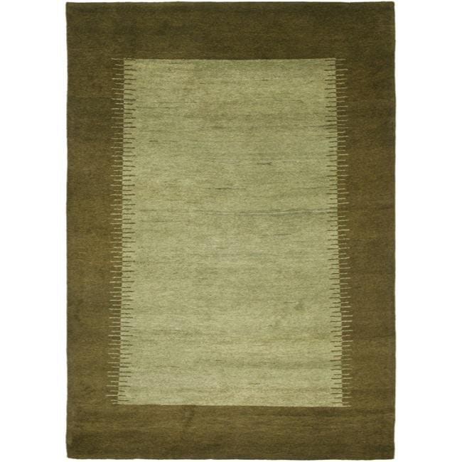 Safavieh Hand-knotted Gabeh Solo Teal Wool Rug - 8' x 10'