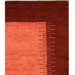 Safavieh Hand-knotted Gabeh Solo Rose Wool Rug (6' x 9')