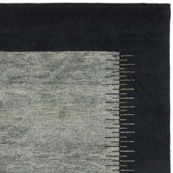 Safavieh Hand-knotted Gabeh Solo Grey/ Black Wool Rug (6' x 9')
