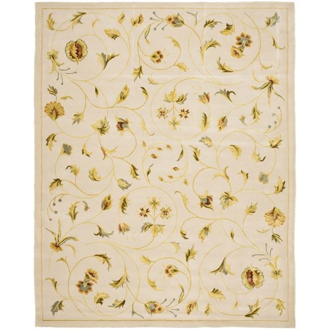 Safavieh Handmade Summer Bouquet Ivory Wool and Silk Rug - Assorted - 9' x 12'