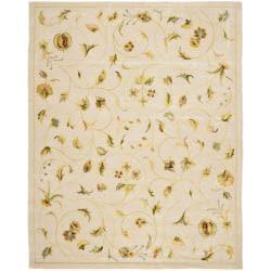 Safavieh Handmade Summer Bouquet Ivory Wool and Silk Rug - Assorted - 9' x 12' - Thumbnail 0