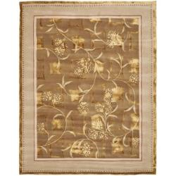 Safavieh Handmade Fall Bouquet Brown Wool and Silk Rug (8' x 10')